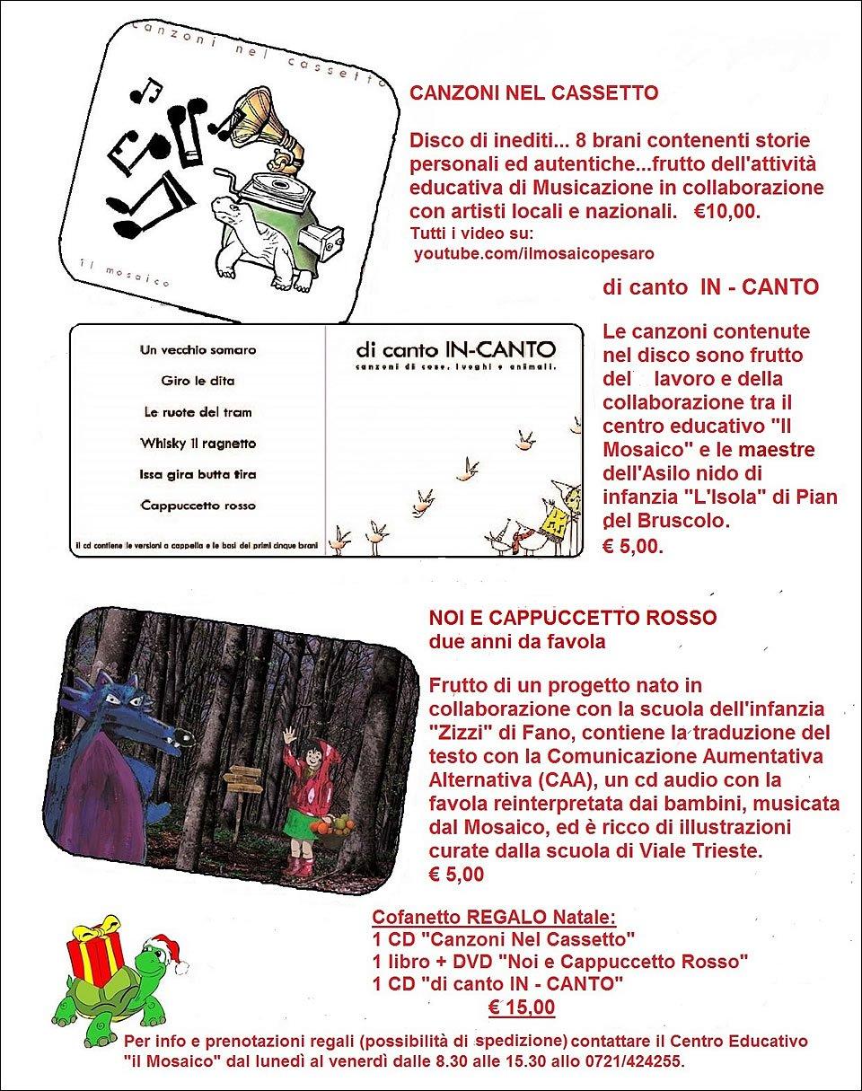Regali di Natale proposte dal Centro Educativo il Mosaico